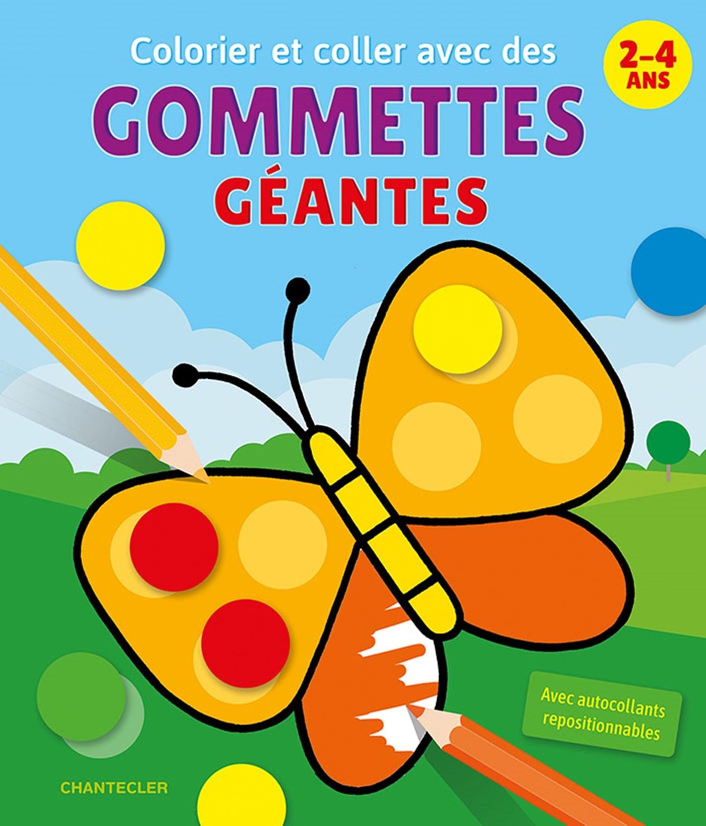 COLORIER ET COLLER AVEC DES GOMMETTES GEANTES (2-4 A.)
