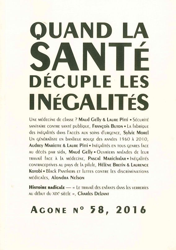 AGONE 58 -  QUAND LA SANTE DECUPLE LES INEGALITES