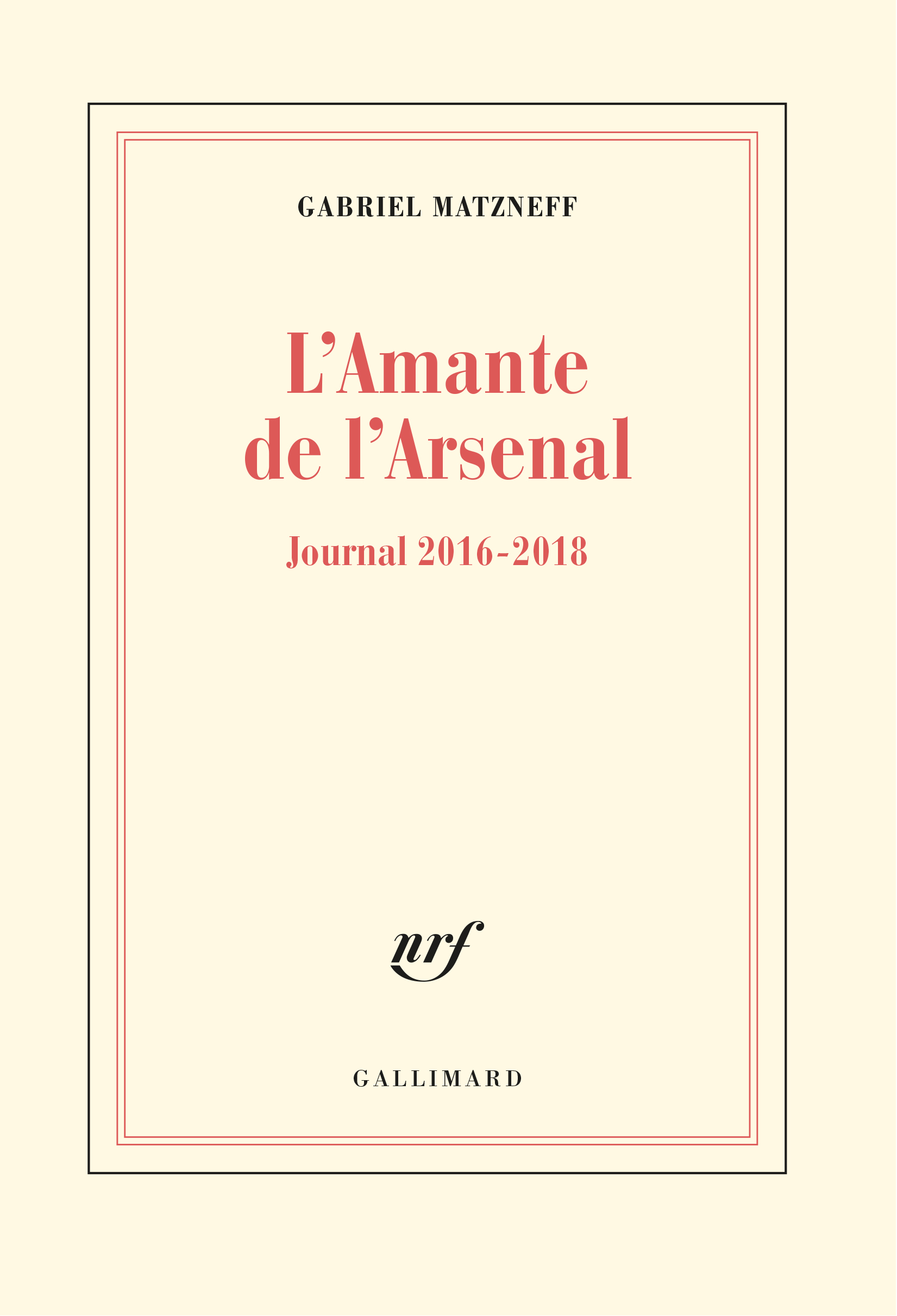 L'AMANTE DE L'ARSENAL - JOURNAL 2016-2018