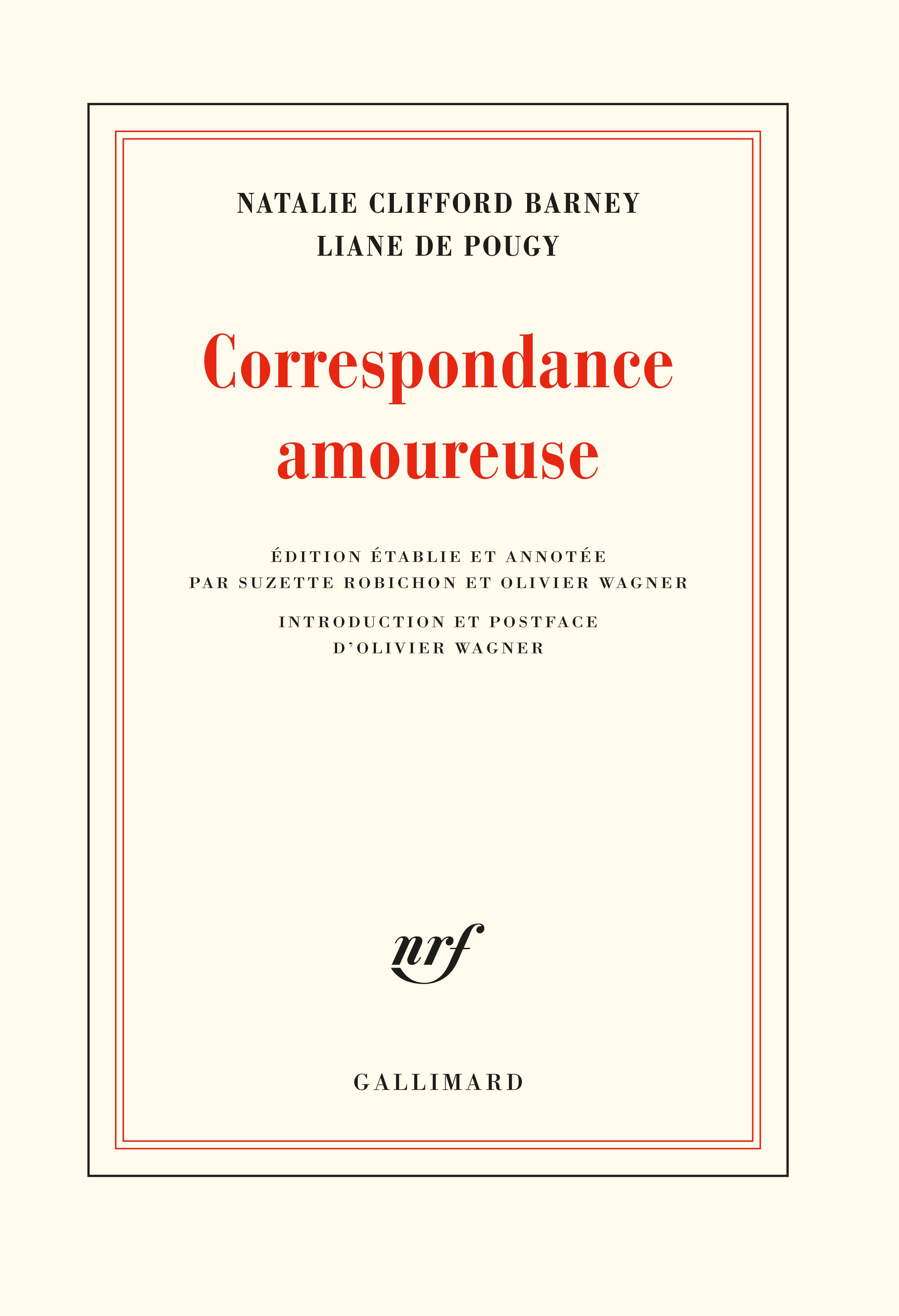 CORRESPONDANCE AMOUREUSE