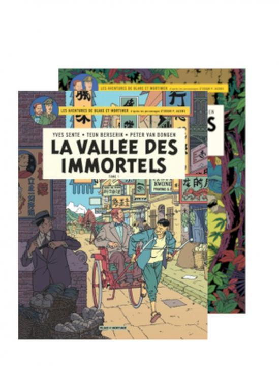 BLAKE & MORTIMER-LA VALLEE DES IMMORTELS-FOURREAU 2 TOMES