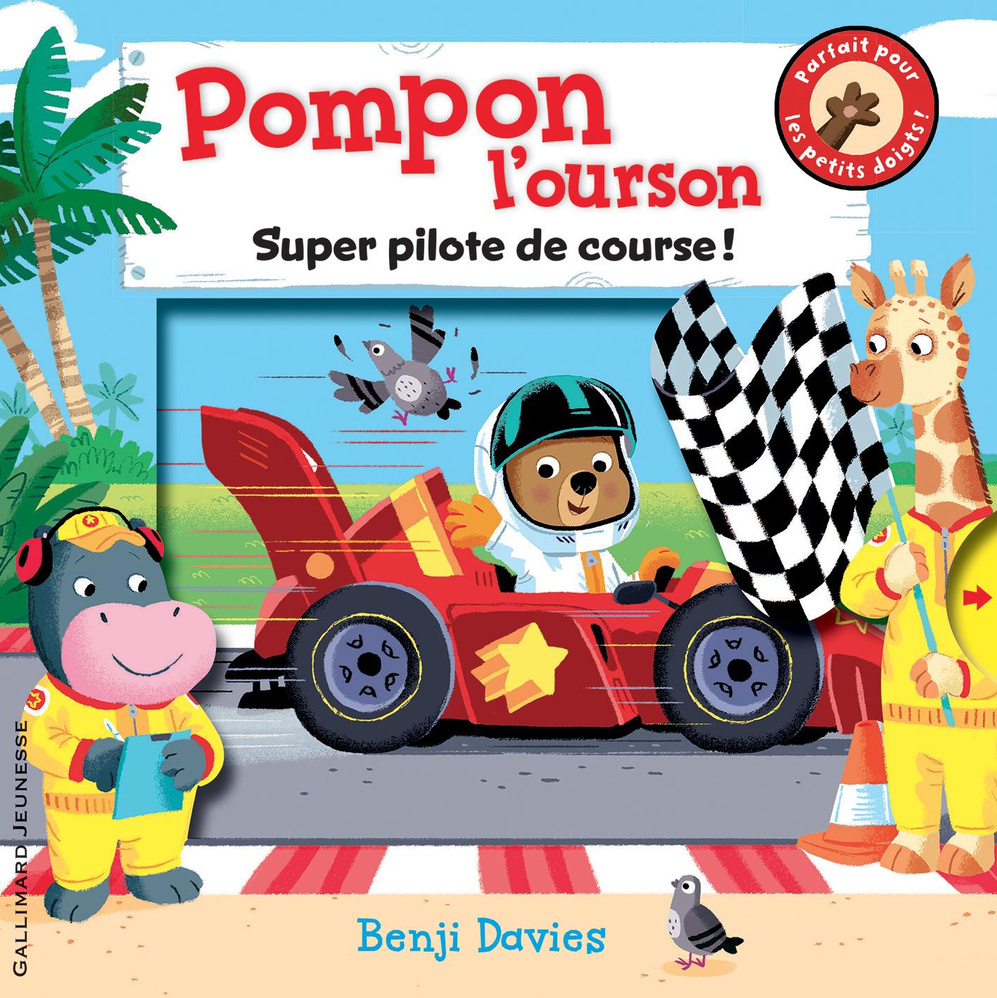 POMPON L'OURSON SUPER PILOTE DE COURSE !
