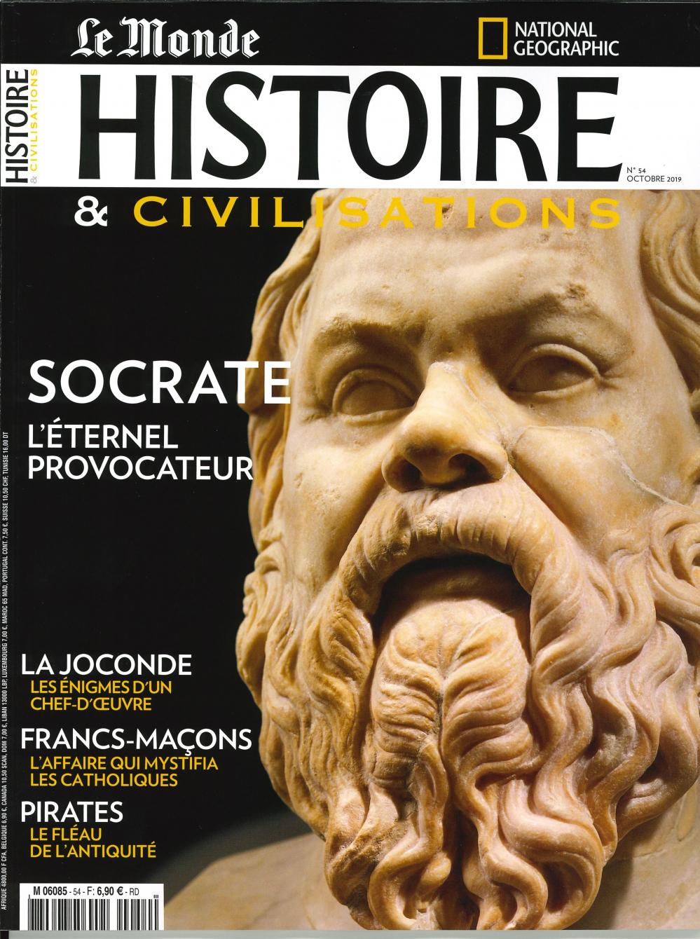 HISTOIRE & CIVILISATIONS N 54 SOCRATE  - OCTOBRE 2019