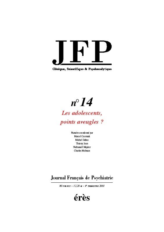 JFP 14 - LES ADOLESCENTS, POINTS AVEUGLES ?