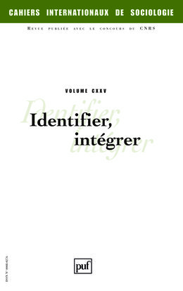 IAD - CAHIERS INTERNATIONAUX DE SOCIOLOGIE VOL 125 2008 IDENTIFIER INTEGRER