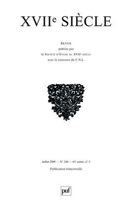 XVIIE SIECLE 2009, N  244 - LA FEMME ET SON STATUT EN EUROPE AU XVIIE SIECLE