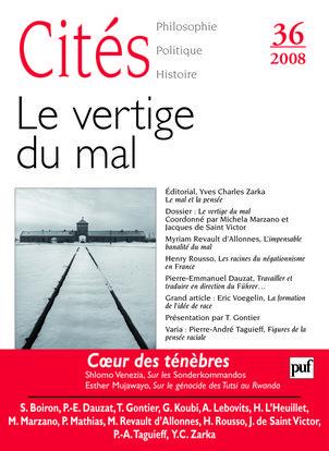 IAD - CITES N 36 2008 LE VERTIGE DU MAL