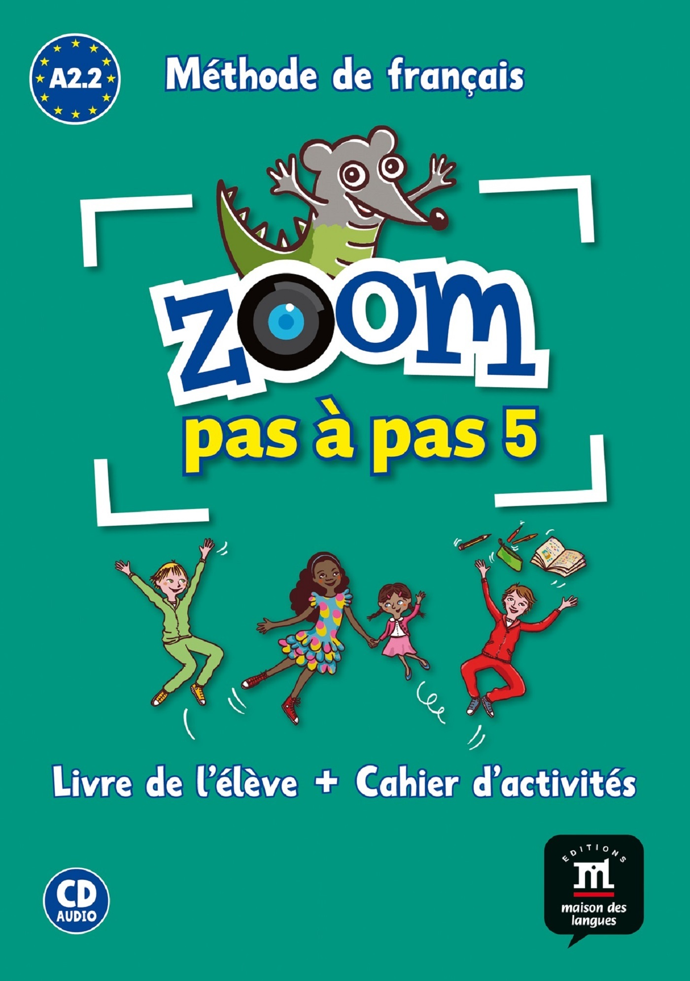 ZOOM PAS A PAS A2.1-A2.2-LIVRE DE L'ELEVE+CAHIER+CD