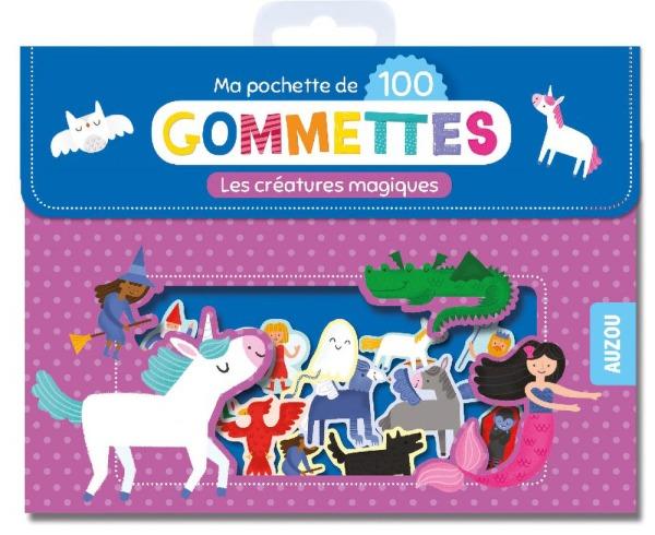 MA POCHETTE DE 100 GOMMETTES - LES CREATURES MAGIQUES