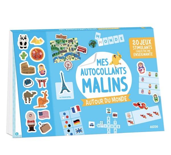 MES AUTOCOLLANTS MALINS - AUTOUR DU MONDE