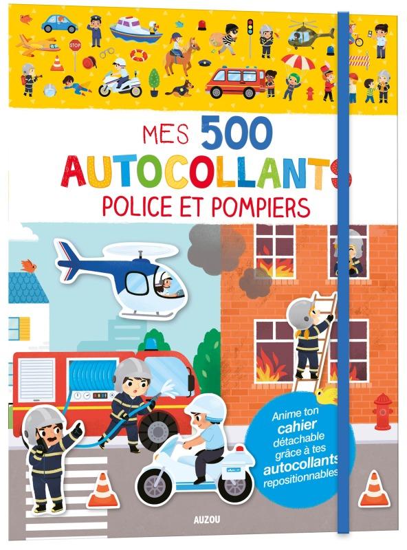 MES 500 AUTOCOLLANTS - POLICE ET POMPIERS - 500 AUTOCOLLANTS REPOSITIONNABLES
