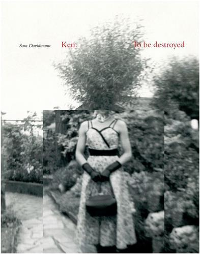 SARA DAVIDMANN KEN TO BE DESTROYED /ANGLAIS
