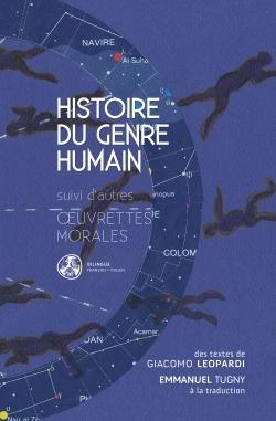 HISTOIRE DU GENRE HUMAIN - SUIVI D'AUTRES  UVRETTES MORALES