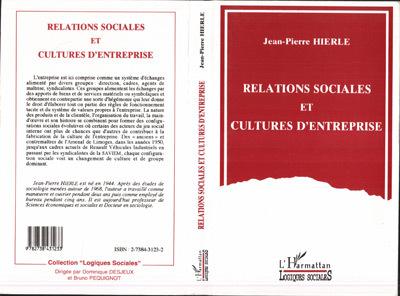 RELATIONS SOCIALES ET CULTURES D'ENTREPRISE