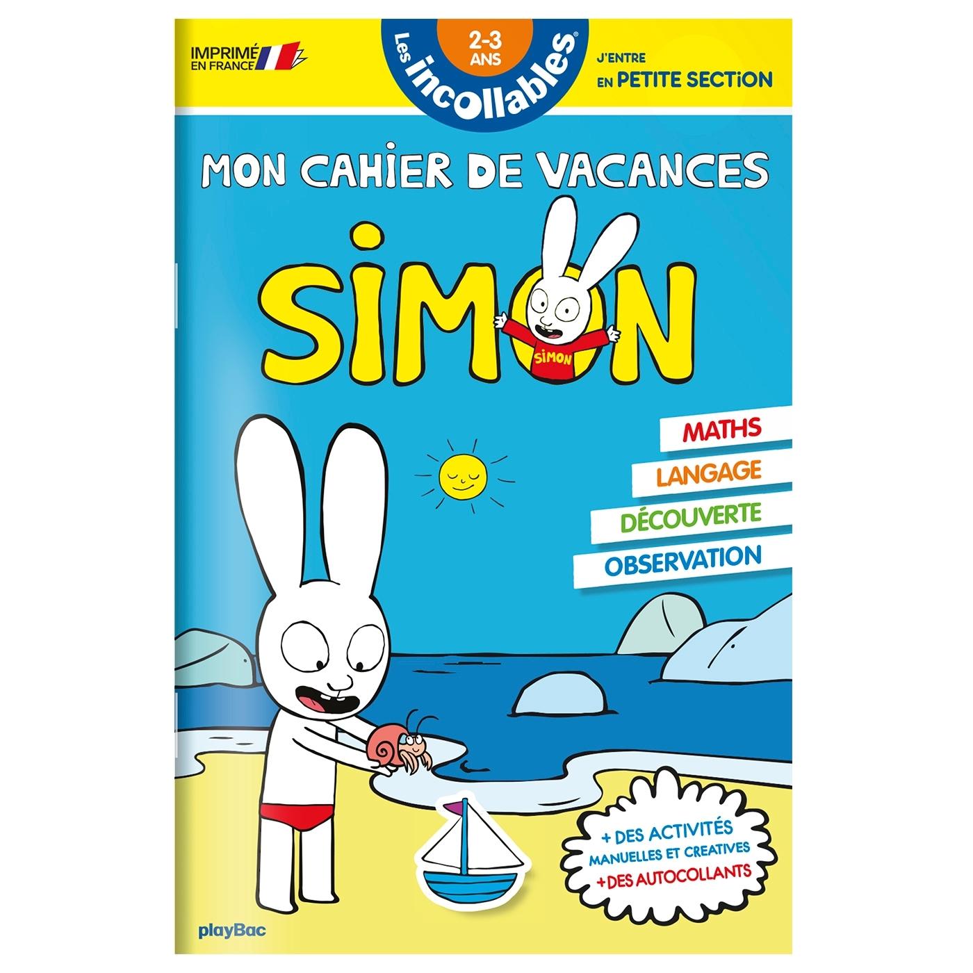 CAHIER DE VACANCES SIMON - DE LA TPS A LA PS