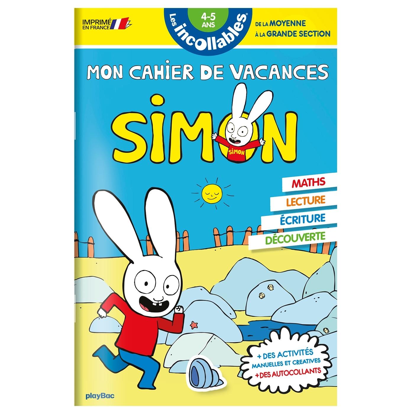 CAHIER DE VACANCES SIMON - DE LA MS A LA GS