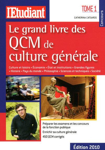 LE GRAND LIVRE DES QCM DE CULTURE GENEALE - TOME 1 - VOL01