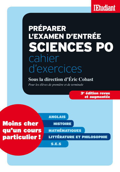 PREPARER L'EXAMEN D'ENTREE A SCIENCES PO - CAHIER D'EXERCICES 3ED REVUE ET AUGMENTEE