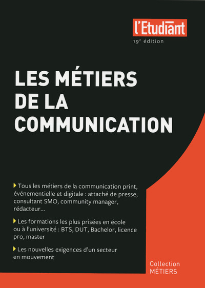 LES METIERS DE LA COMMUNICATION 19E EDITION