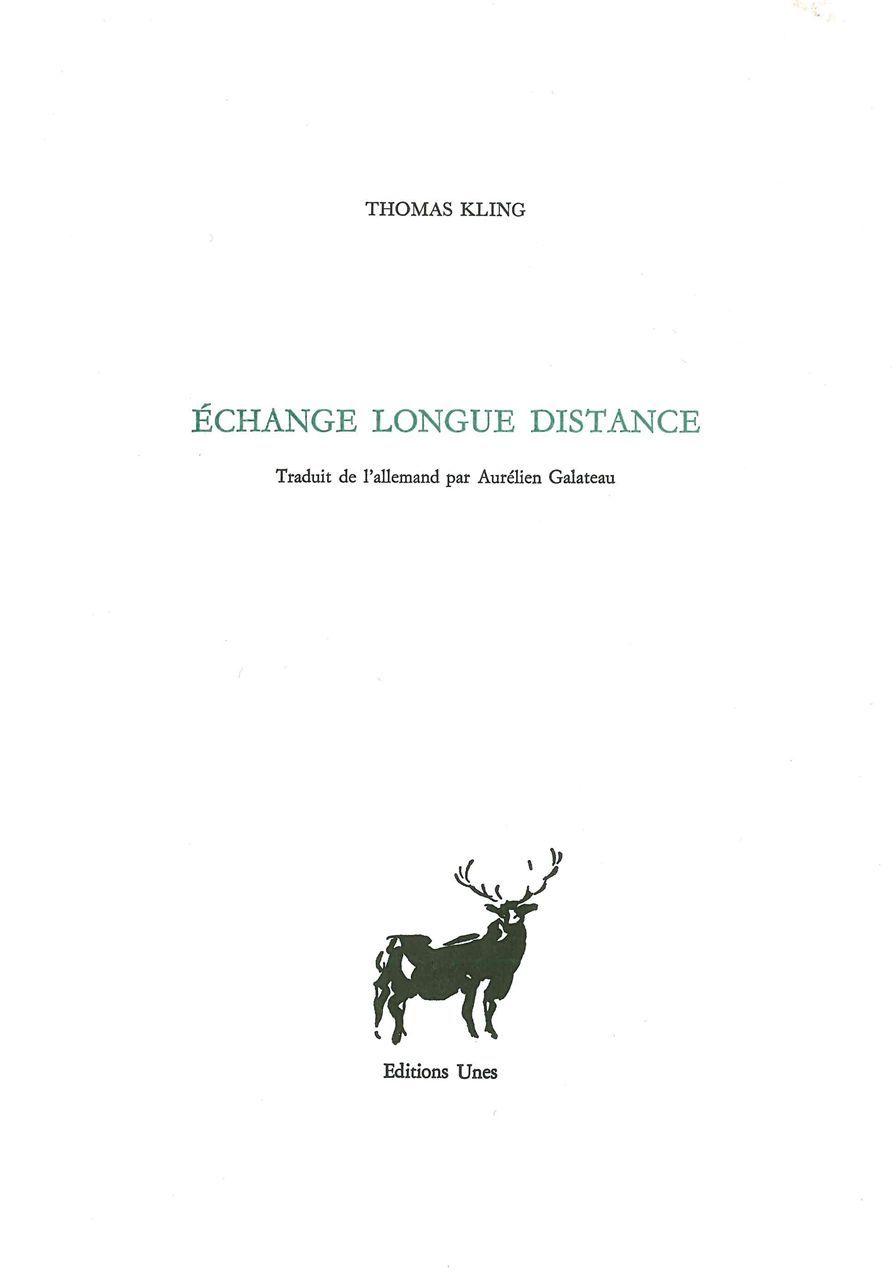 ECHANGE LONGUE DISTANCE