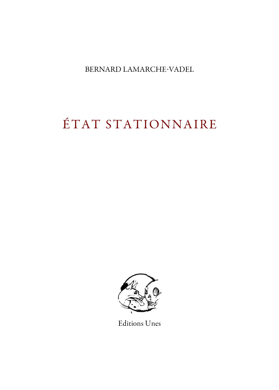 ETAT STATIONNAIRE