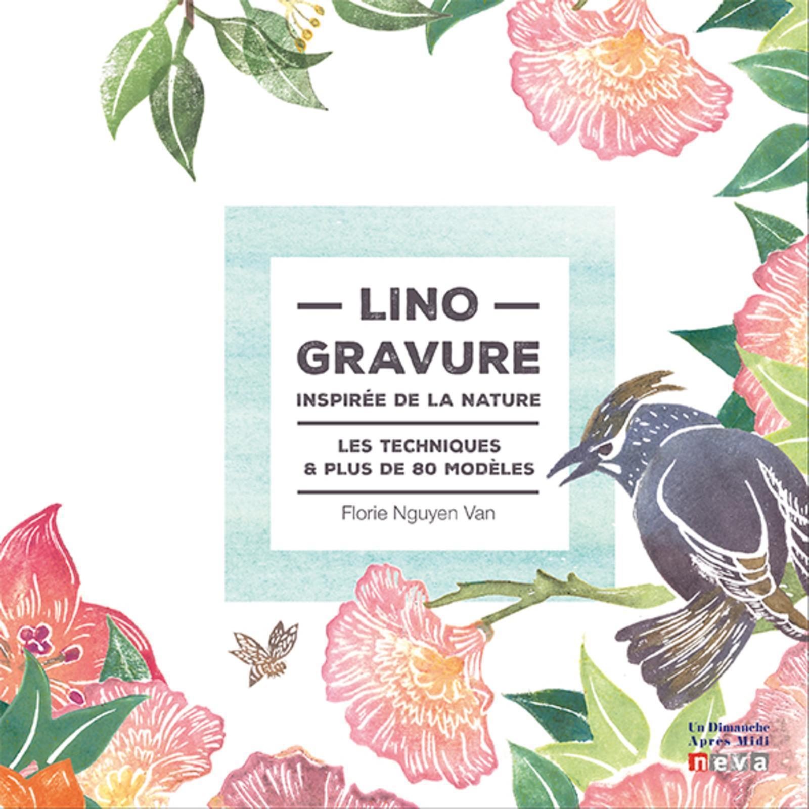 LINOGRAVURE INSPIREE DE LA NATURE - 60 MODELES