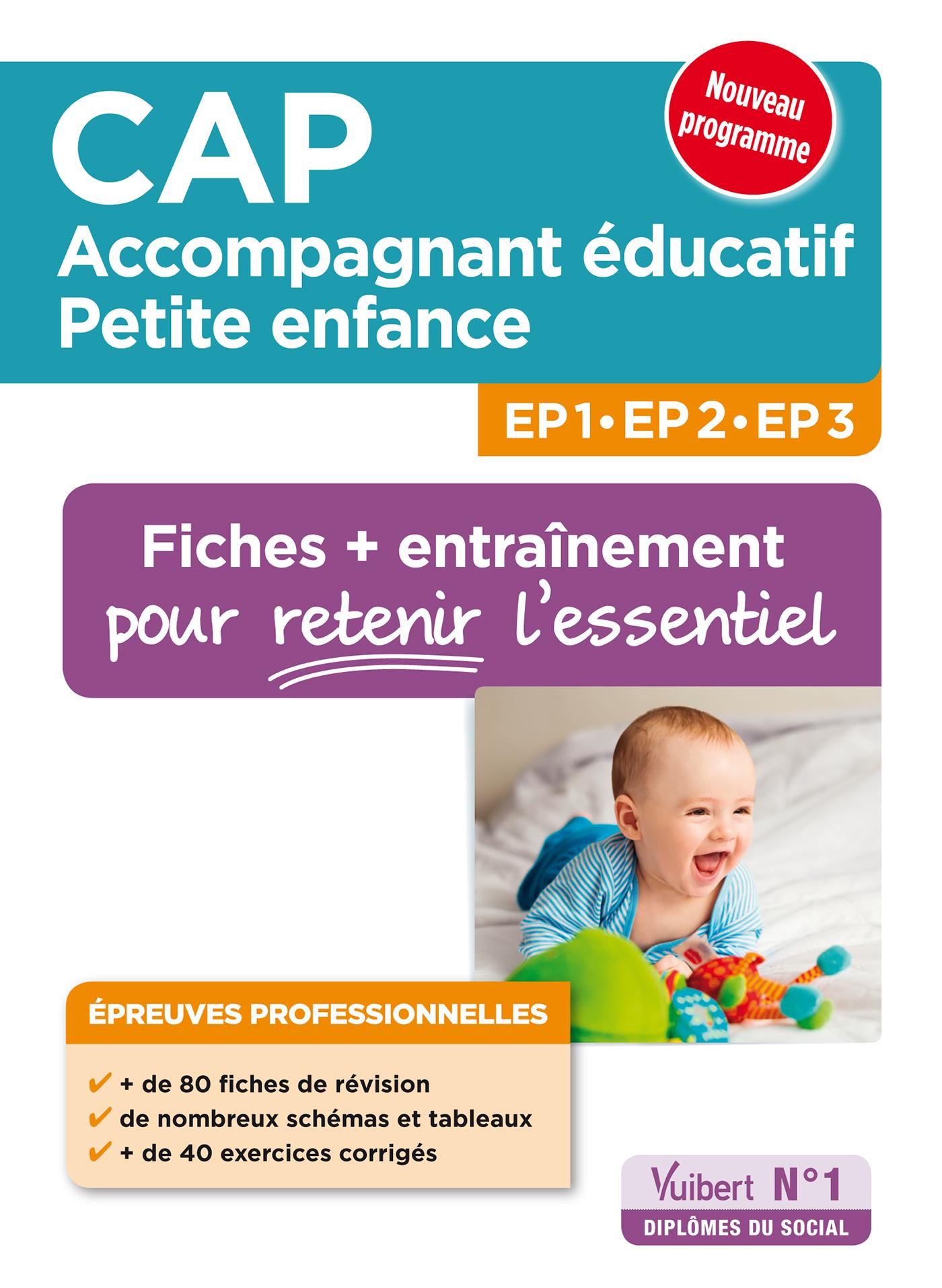 CAP ACCOMPAGNANT EDUCATIF PTE ENFANCE EP PROFESSIONNELLES 80 FICHES EP1 2 3