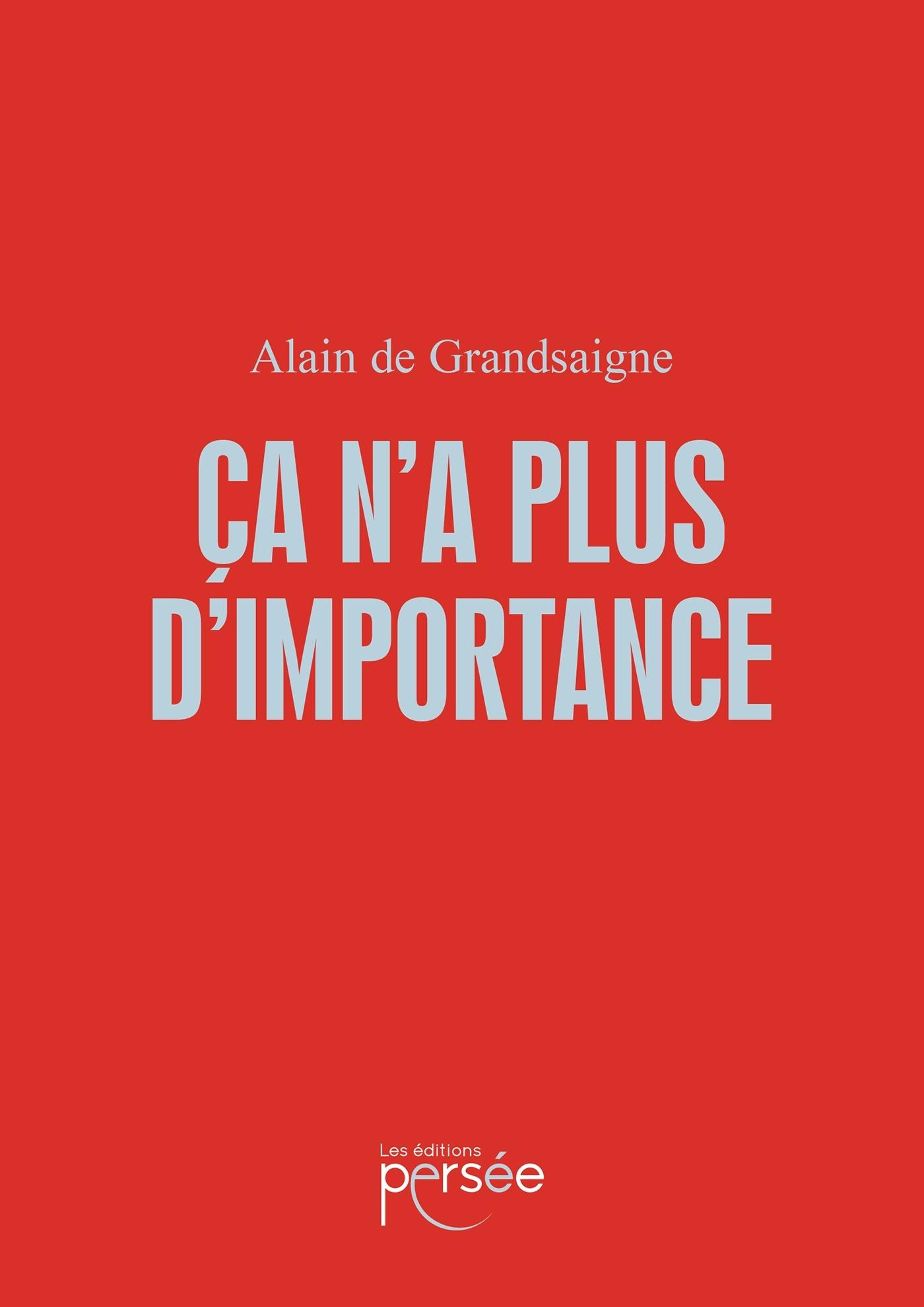 CA N'A PLUS D'IMPORTANCE