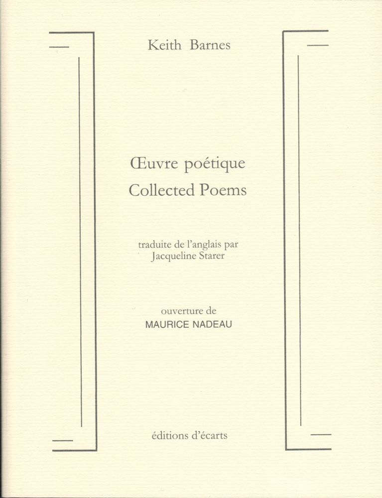 OEUVRE POETIQUE - COLLECTED POEMS