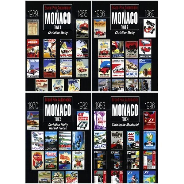 LE GRAND PRIX AUTOMOBILE DE MONACO 1929-1996 (COFFRET 4 VOLUMES)