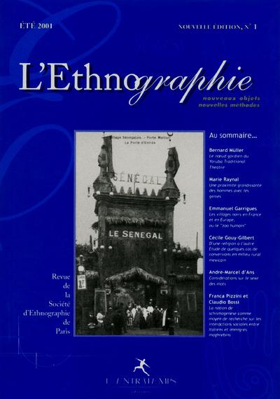 L'ETHNOGRAPHIE N 1 (NOUVEAUX OBJETS, NOUVELLES METHODES)