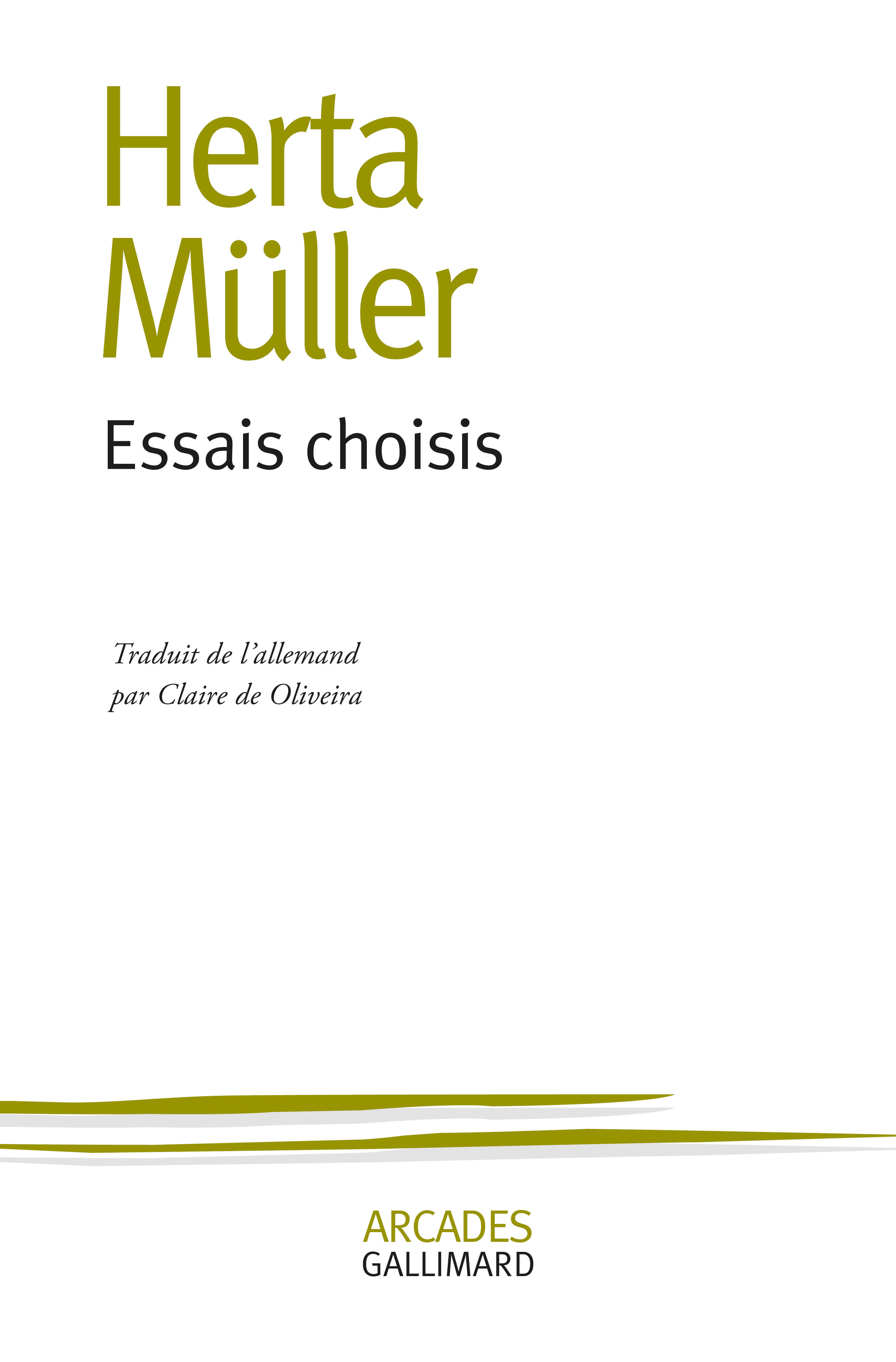 ESSAIS CHOISIS