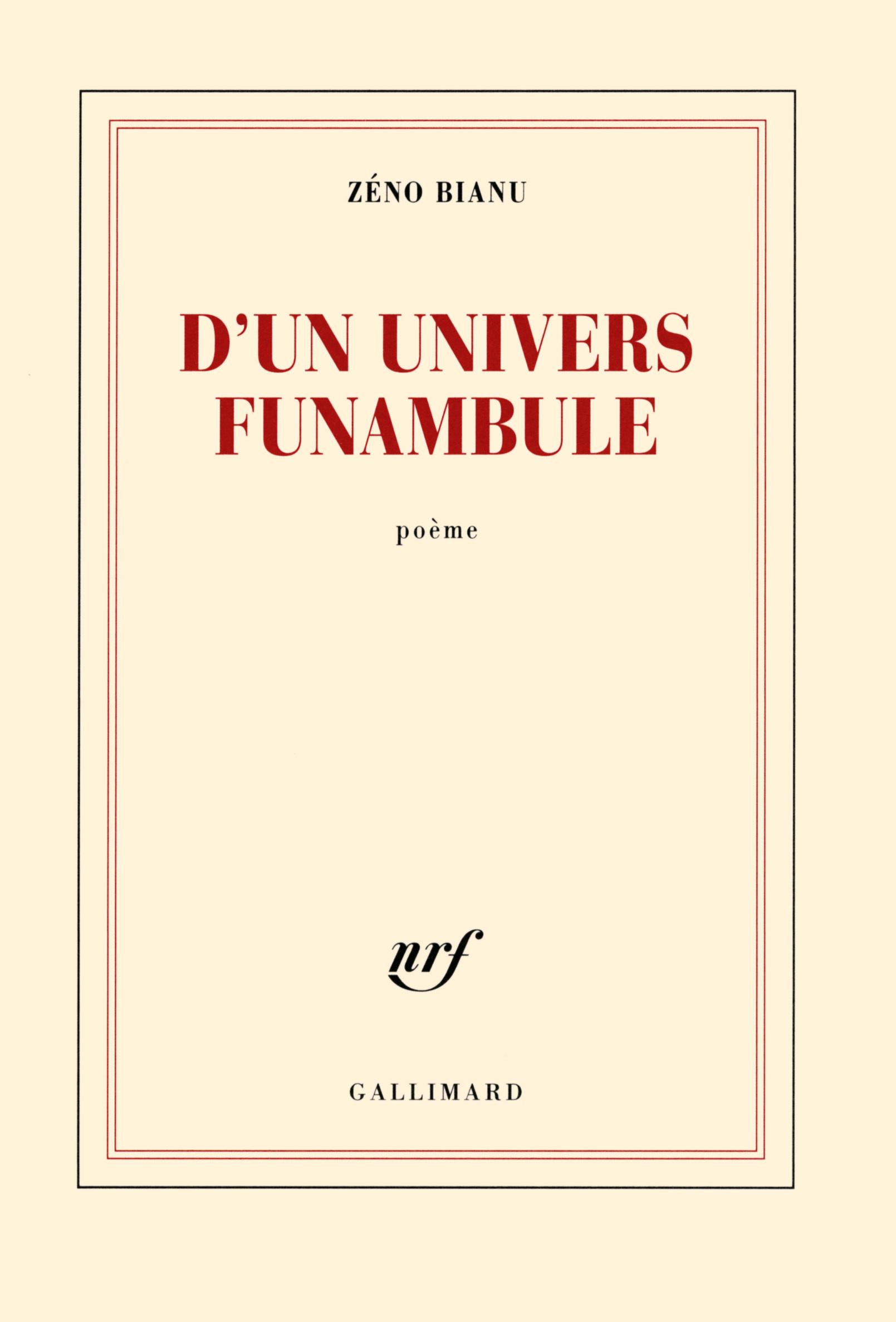 D'UN UNIVERS FUNAMBULE