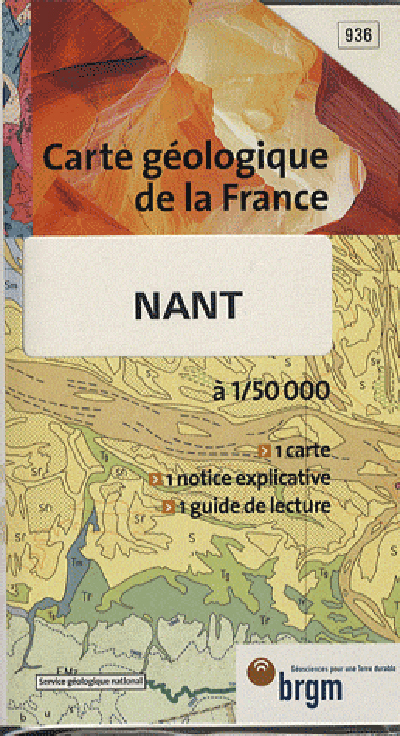 NANT 1/50 000 CARTE GEOLOGIQUE