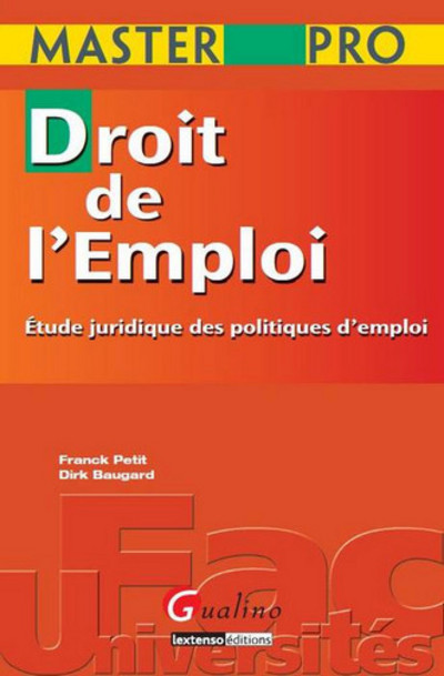 MASTER PRO - DROIT DE L'EMPLOI