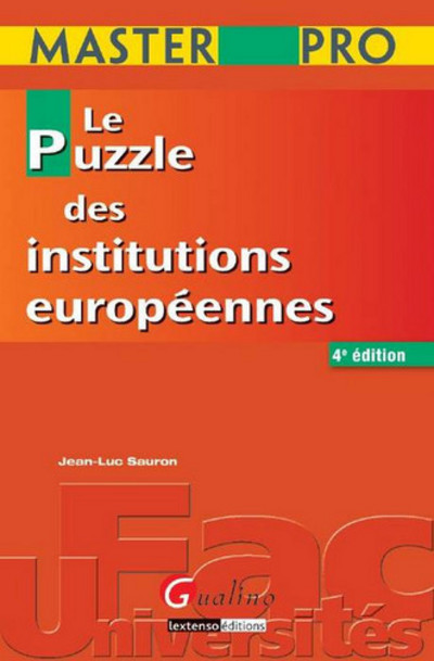 MASTER PRO - LE PUZZLE DES INSTITUTIONS EUROPEENNES - 4EME EDITION