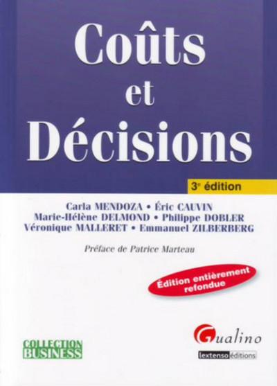 COUTS ET DECISIONS - 3EME EDITION