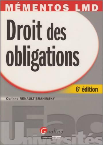 MEMENTO- DROIT DES OBLIGATIONS, 6 EME EDITION