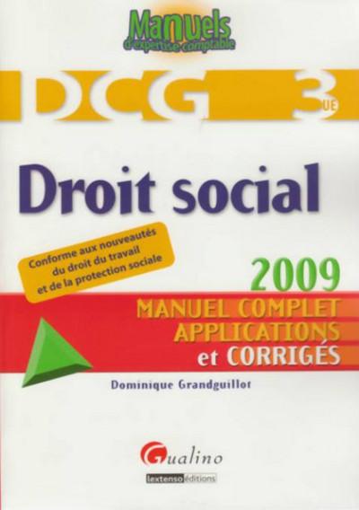 DROIT SOCIAL - DCG 3 - 3EME EDITION