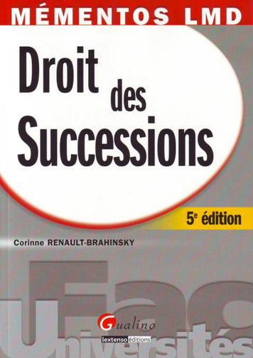 MEMENTO- DROIT DES SUCCESSIONS, 5 EME EDITION