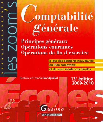 ZOOM'S COMPTABILITE GENERALE, 13EME EDITION