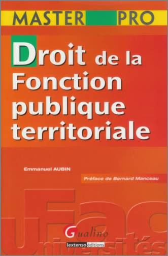 MASTER PRO - DROIT DE LA FONCTION PUBLIQUE TERRITORIALE