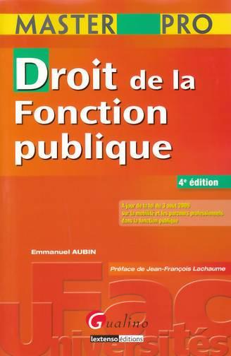 MASTER PRO- DROIT DE LA FONCTION PUBLIQUE, 4 EME EDITION