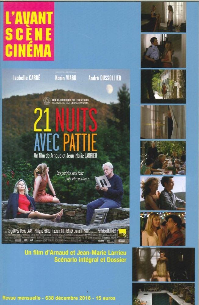 L'AVANT-SCENE CINEMA N 638 21 NUITS AVEC PATTIE DECEMBRE 2016