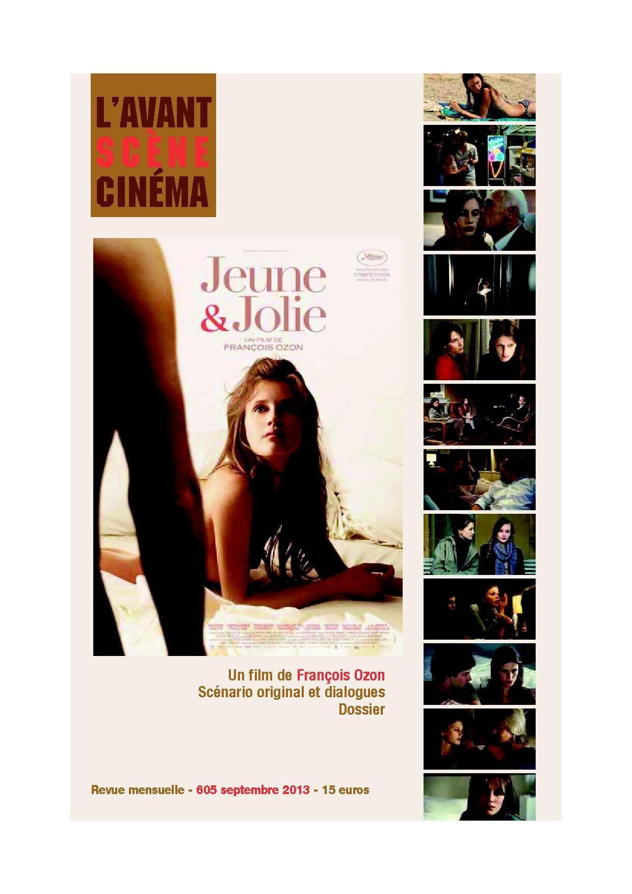 L AVANT-SCENE CINEMA N 605 : JEUNE ET JOLIE