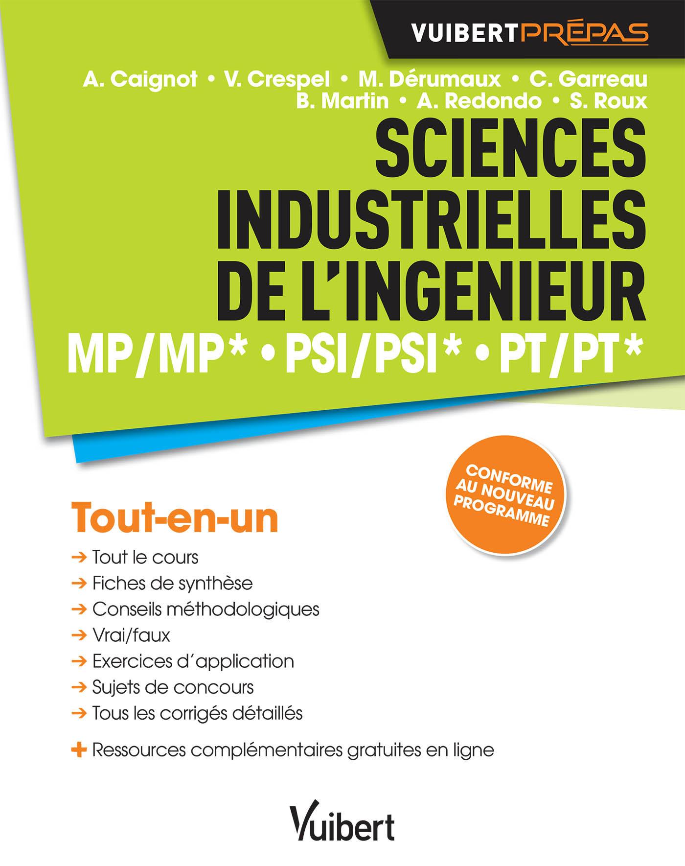SCIENCES INDUSTRIELLES DE L'INGENIEUR MP MP* PSI PSI* PT PT*