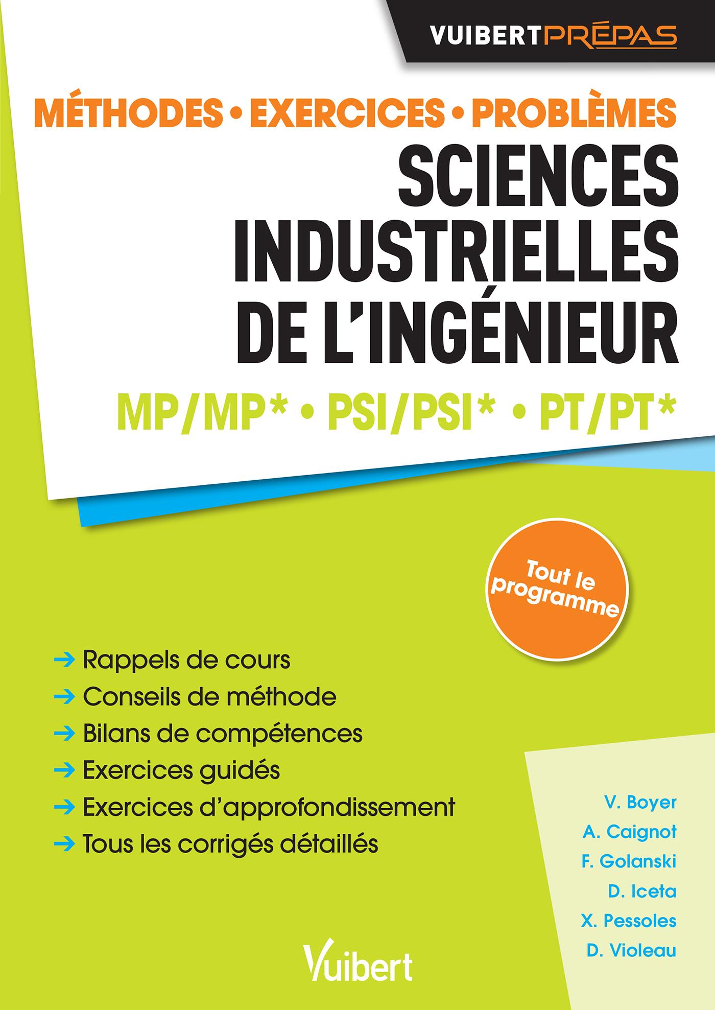 SCIENCES INDUSTRIELLES DE L'INGENIEUR MP / MP*  PSI / PSI*  PT / PT*