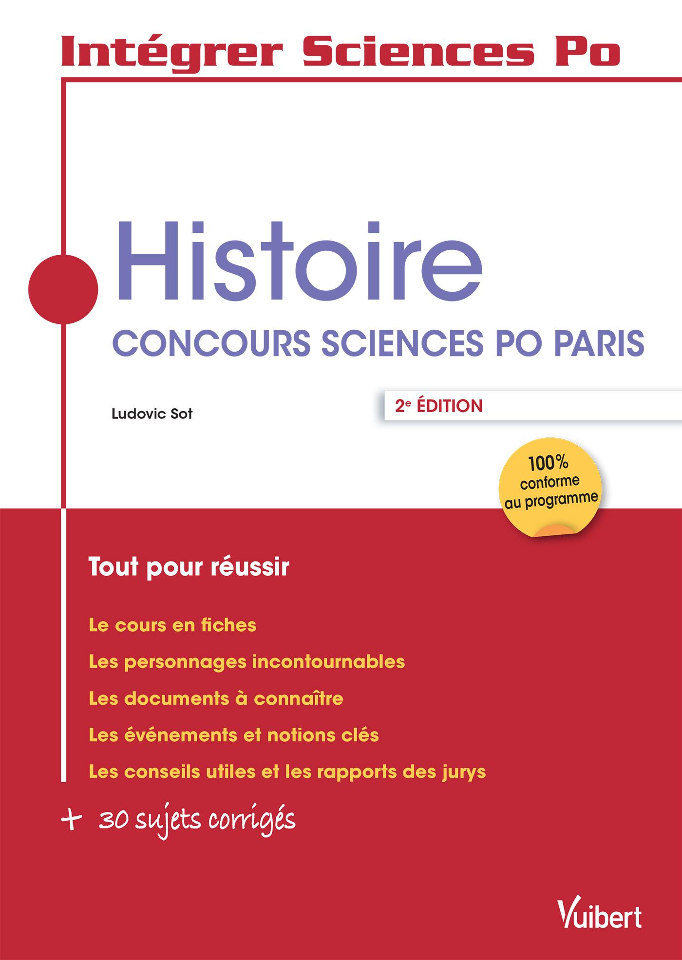 HISTOIRE CONCOURS SCIENCES PO PARIS 2E EDT