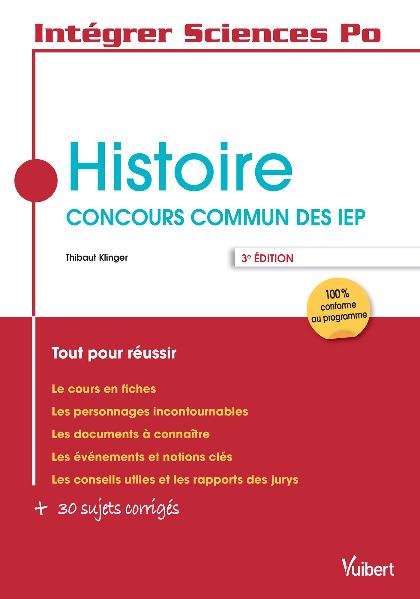 HISTOIRE CONCOURS COMMUN DES IEP 3E EDT