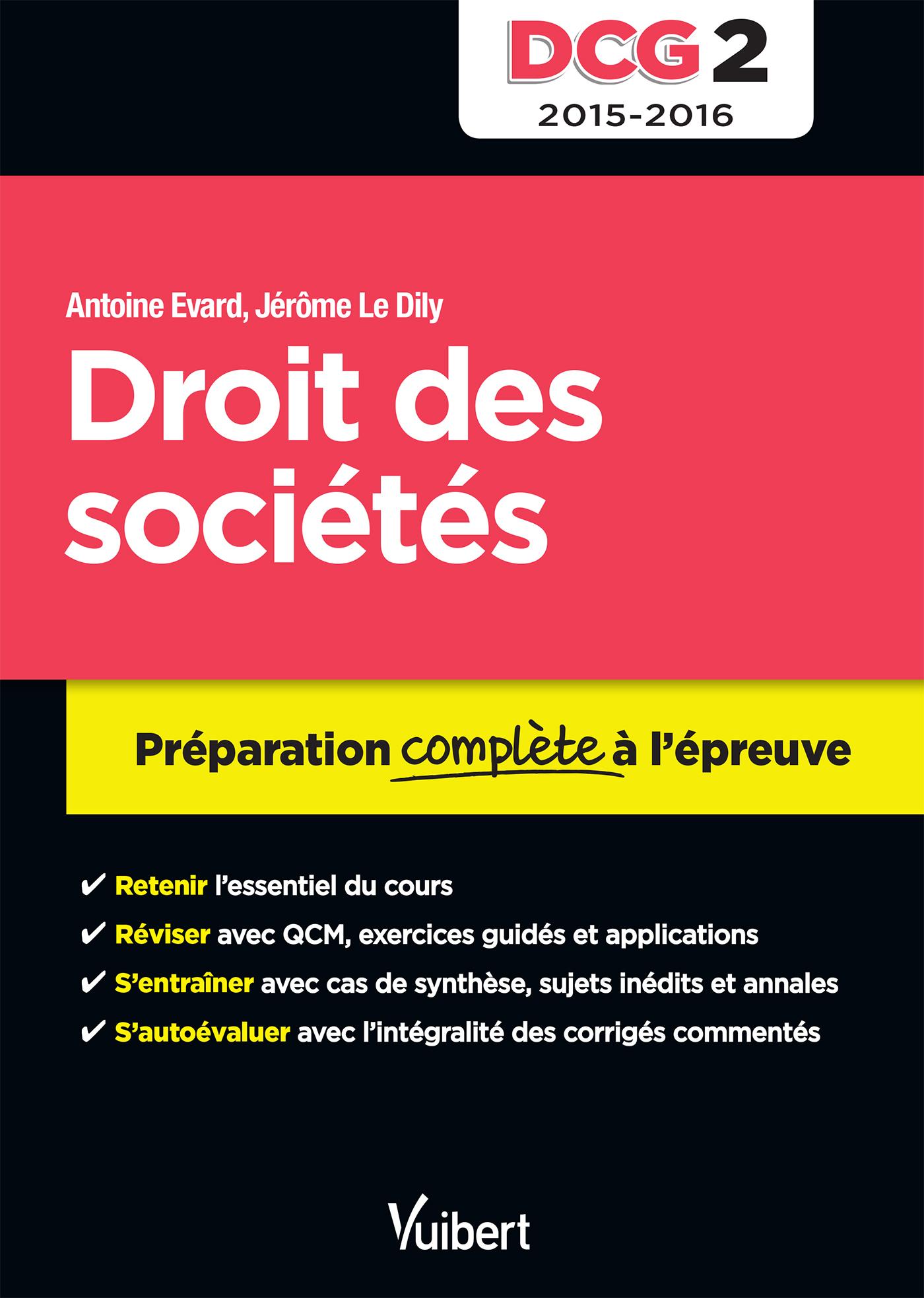 DCG 2 DROIT DES SOCIETES
